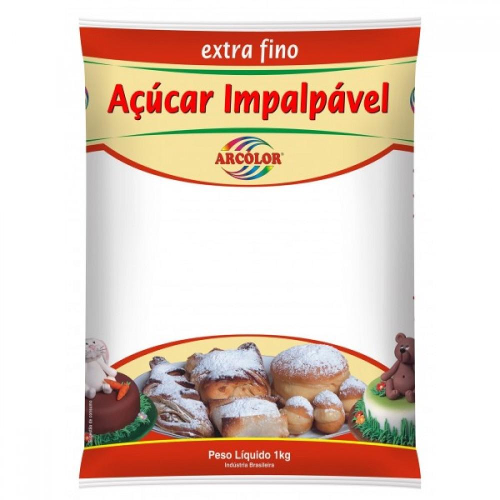 ARCOLOR - ACUÇAR IMPALPAVEL EXTRA FINO 1KG