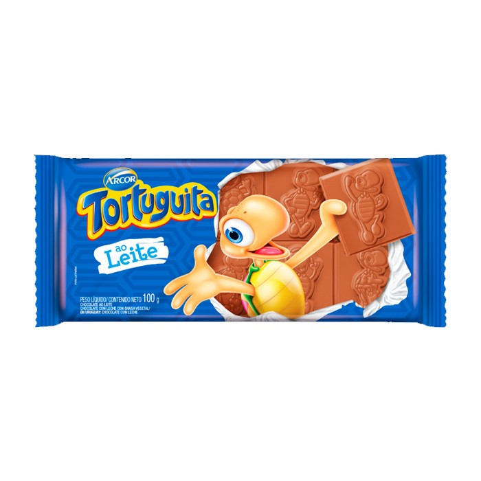 ARCOR - CHOCOLATE 100G TORTUGUITA MAIS LEITE