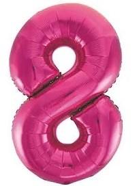 BALAO CAKE TOPPER 5P PINK Nº8