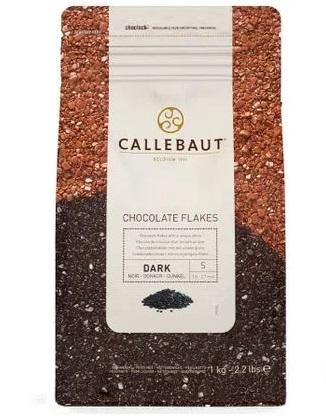 CALLEBAUT - FLOCOS CHOCOLATE DARK  4D S 1,01KG  MEIO AMARGO