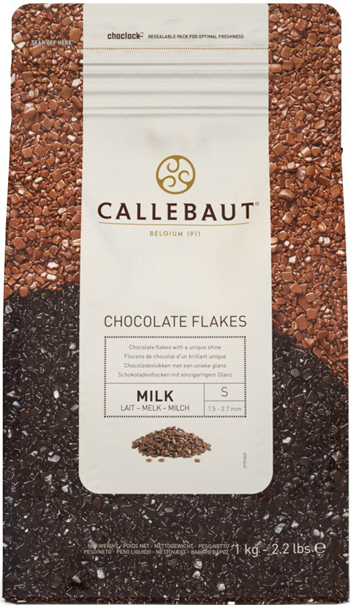 CALLEBAUT - FLOCOS CHOCOLATE 4M S 1,01KG AO LEITE
