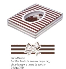 DECORA - CX PASC 500/350GR LISTRA MARROM UN
