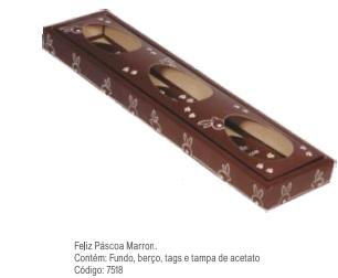 DECORA - CX PASC TRIO 150G FELIZ PASC MARROM