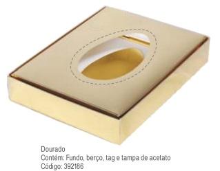 DECORA - CX PASCOA 500/350GR DOURADO UNIDADE