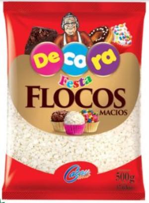 DECORA - FLOCOS MACIOS CHOCOLATE BRANCO 500G
