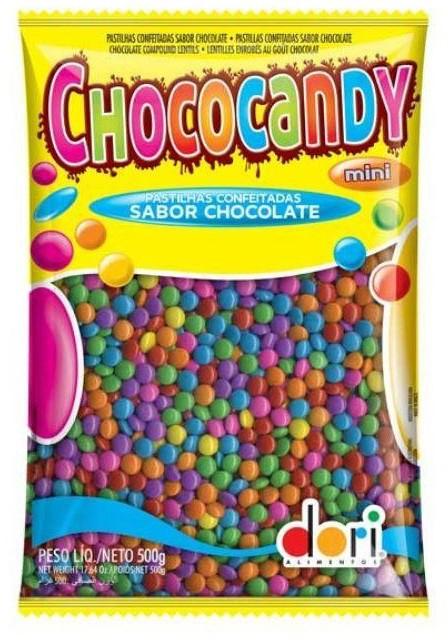 DORI - CHOCOCANDY PASTILHA CHOCOLATE 500G COLORIDO