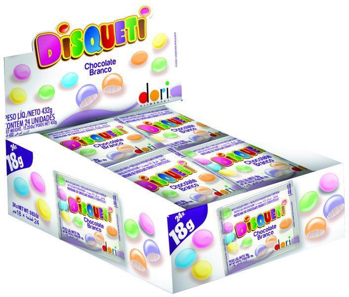 DORI - DISQUETI 24X18G CHOCOLATE BRANCO