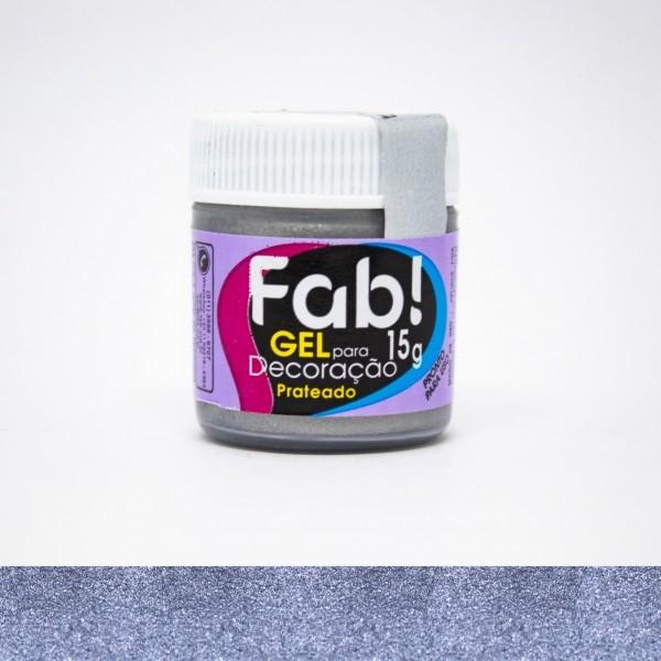 FAB - GEL DECORACAO 15G PRATEADO