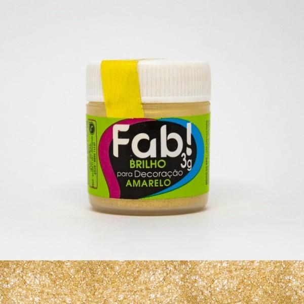 FAB - PÓ DECORAÇÃO BRILHO 3G AMARELO