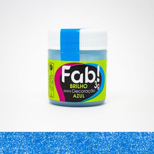 FAB - PÓ DECORAÇÃO BRILHO 3G AZUL
