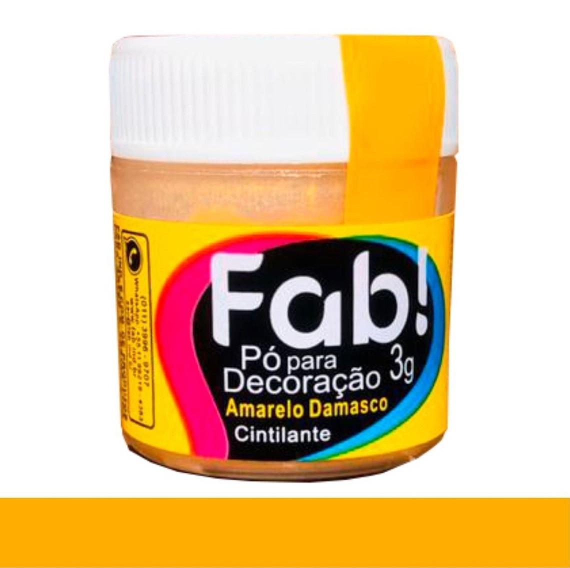 FAB - PÓ DECORAÇÃO CINTILANTE 3G AMARELO DAMASCO