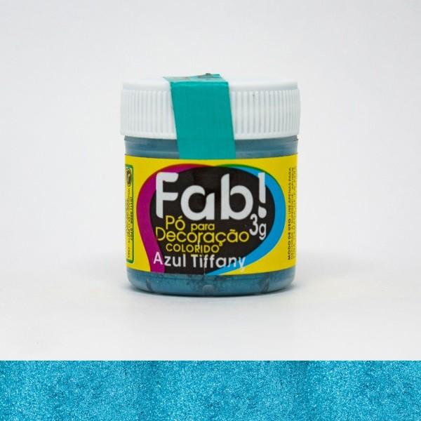 FAB - PÓ DECORAÇÃO CINTILANTE 3G AZUL TIFFANY