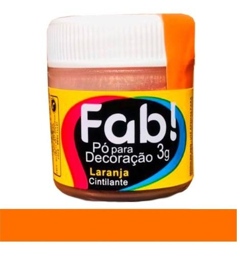 FAB - PÓ DECORAÇÃO CINTILANTE 3G LARANJA