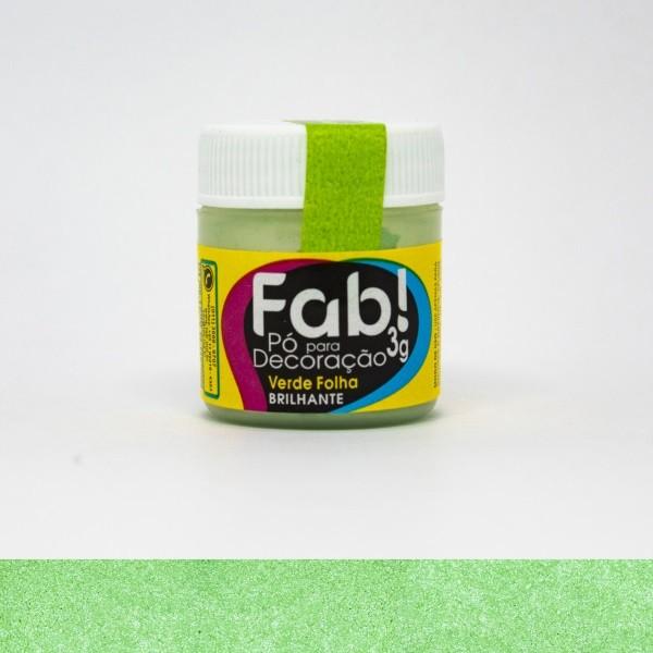FAB - PÓ DECORAÇÃO CINTILANTE 3G VERDE FOLHA