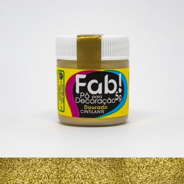 FAB - PÓ DECORAÇÃO CINTILANTE 5G DOURADO