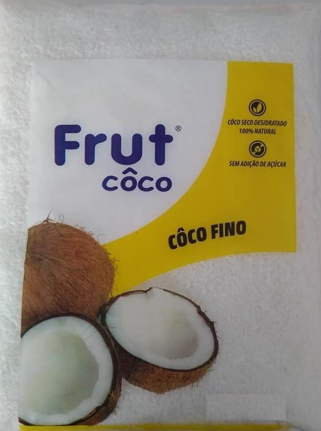 FRUTCOCO - COCO RALADO SECO 1KG FINO