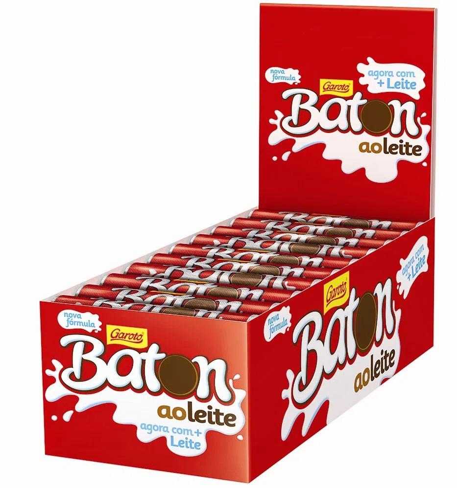 GAROTO - BATON DP 30X16G AO LEITE