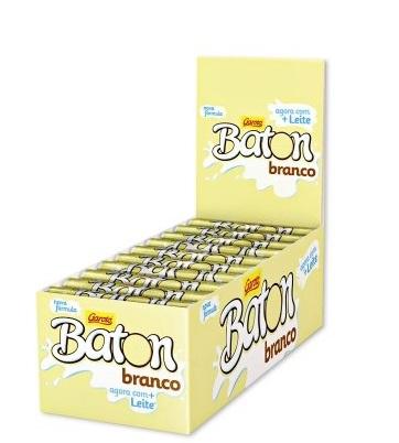 GAROTO - BATON DP 30X16G BRANCO