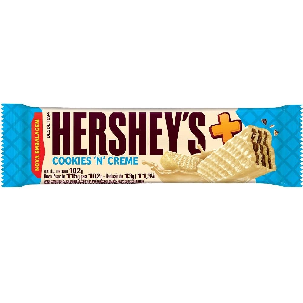 HERSHEYS - WAFER MAIS 102G COOKIES N CREME