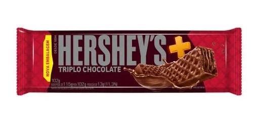 HERSHEYS - WAFER MAIS TRIPLO CHOCOLATE 102G