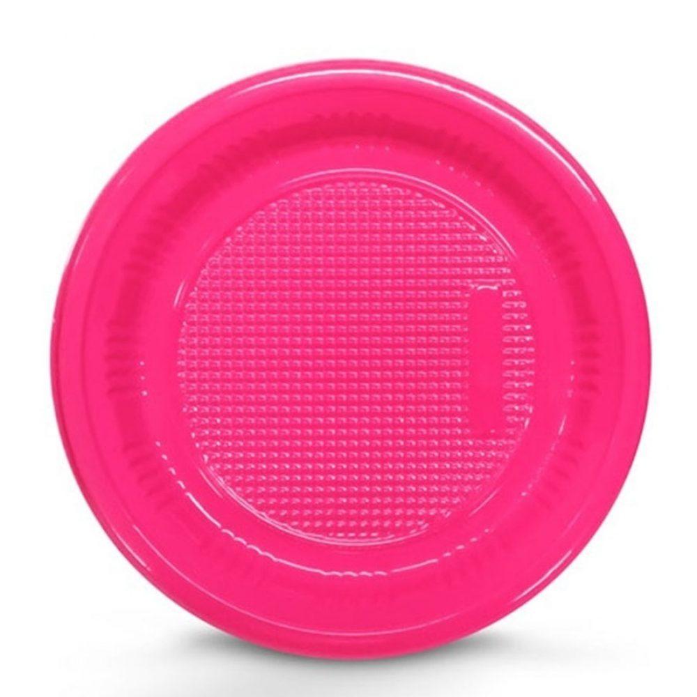 KAIXOTE - PRATO DESCARTAVEL P15 C/10 PINK