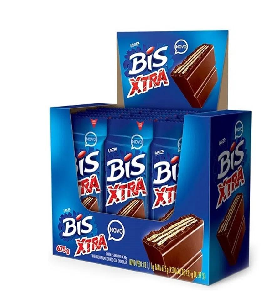 LACTA - CHOCOLATE BIS XTRA DP15X45G AO LEITE