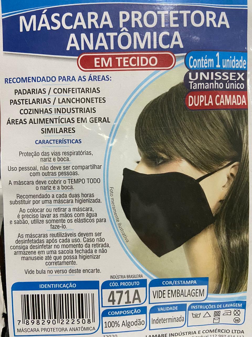 LAMARE - MASCARA TECIDO ANATOMICA UND