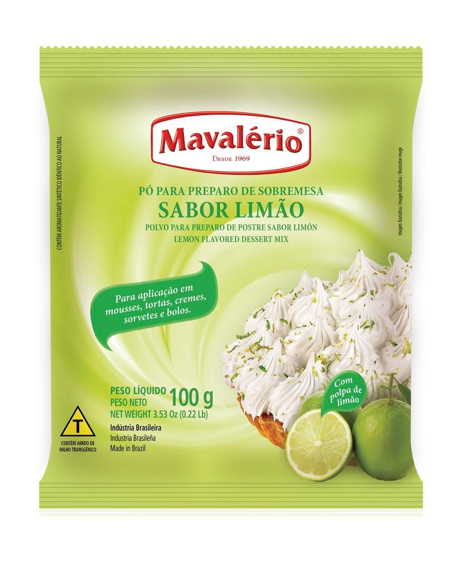 MAVALÉRIO - PÓ PARA SOBREMESAS 100G LIMÃO