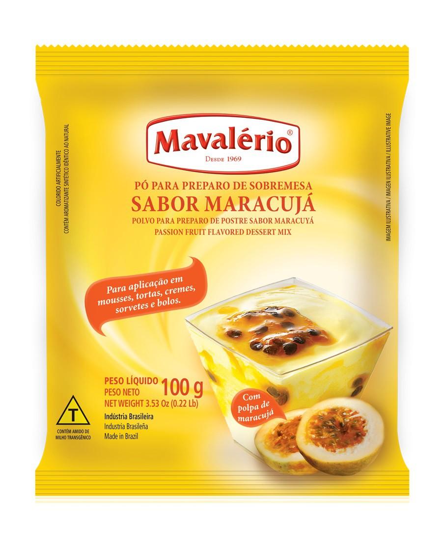 MAVALÉRIO - PÓ PARA SOBREMESAS 100G MARACUJA