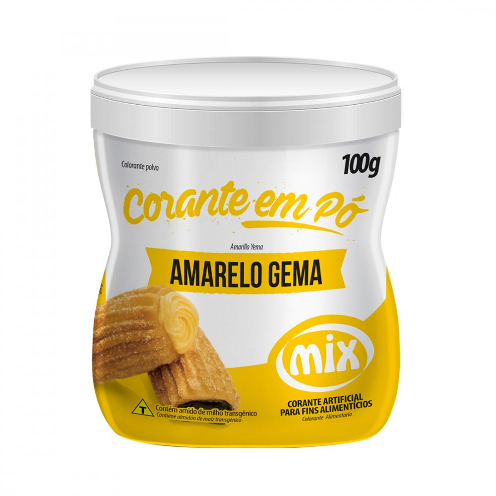 MIX - CORANTE PÓ 100G AMARELO GEMA