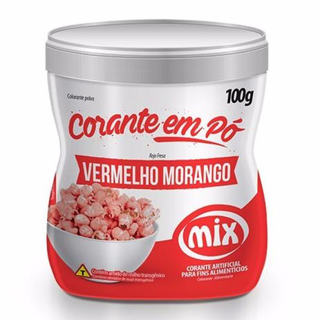 MIX - CORANTE PÓ 100G VERMELHO