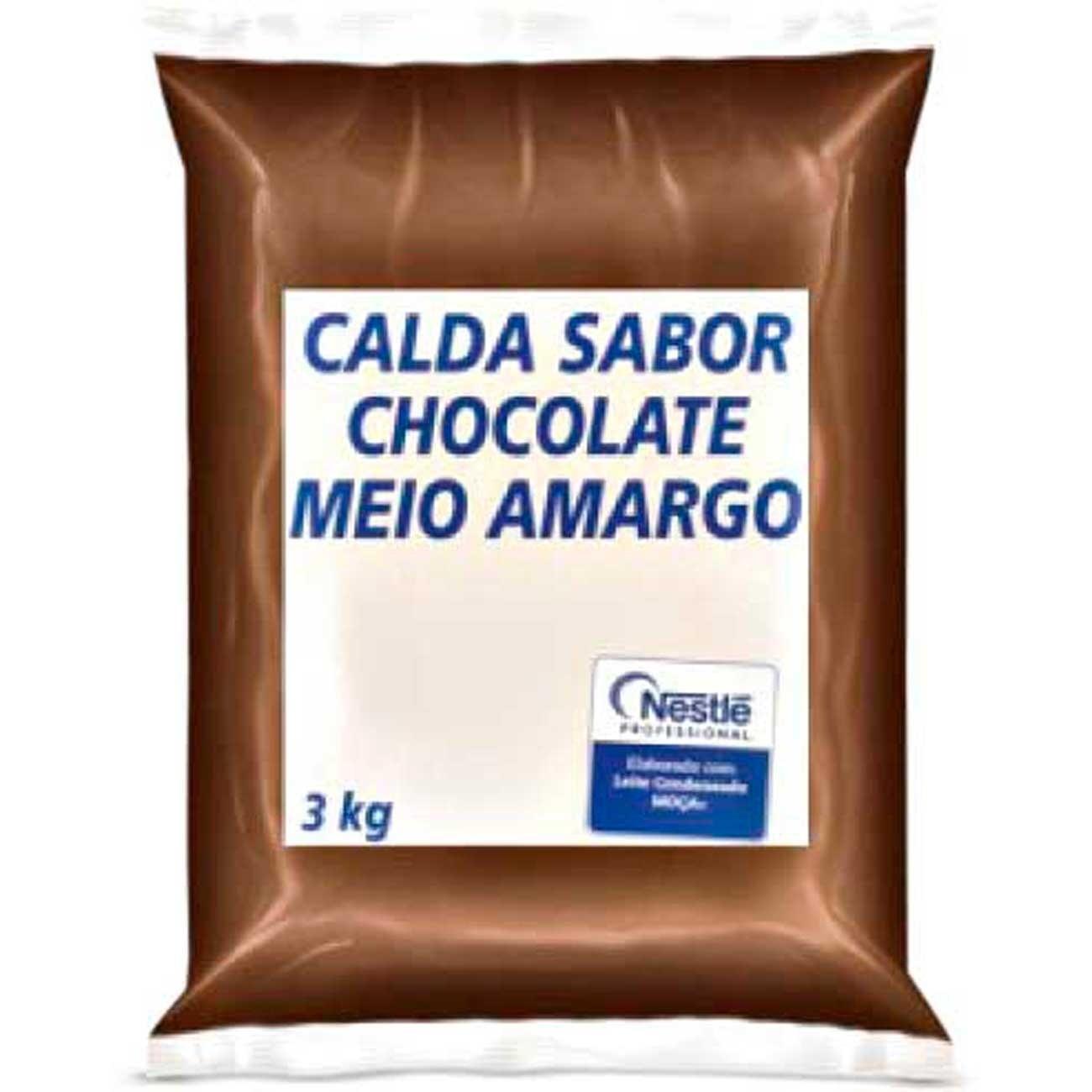CALDA CHOCOLATE MEIO AMARGO 3KG NESTLÉ
