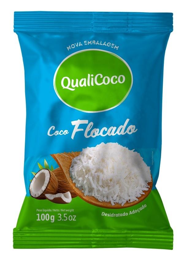 QUALICOCO - COCO RALADO 100G FLOCADO
