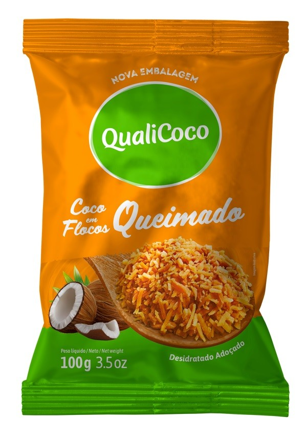 QUALICOCO - COCO RALADO 100G QUEIMADO GOLDEN