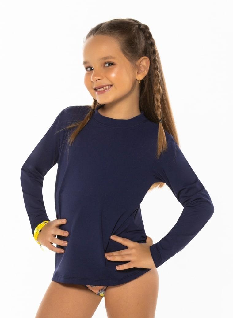 Blusa UV infantil lisa