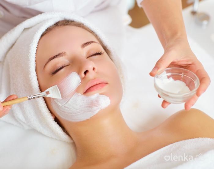 Drenagem linfática facial com máscara