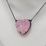 Colar Coração fusion rosa