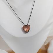 Colar coração pedras