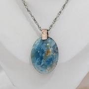 Colar quartzo azul pedras naturais