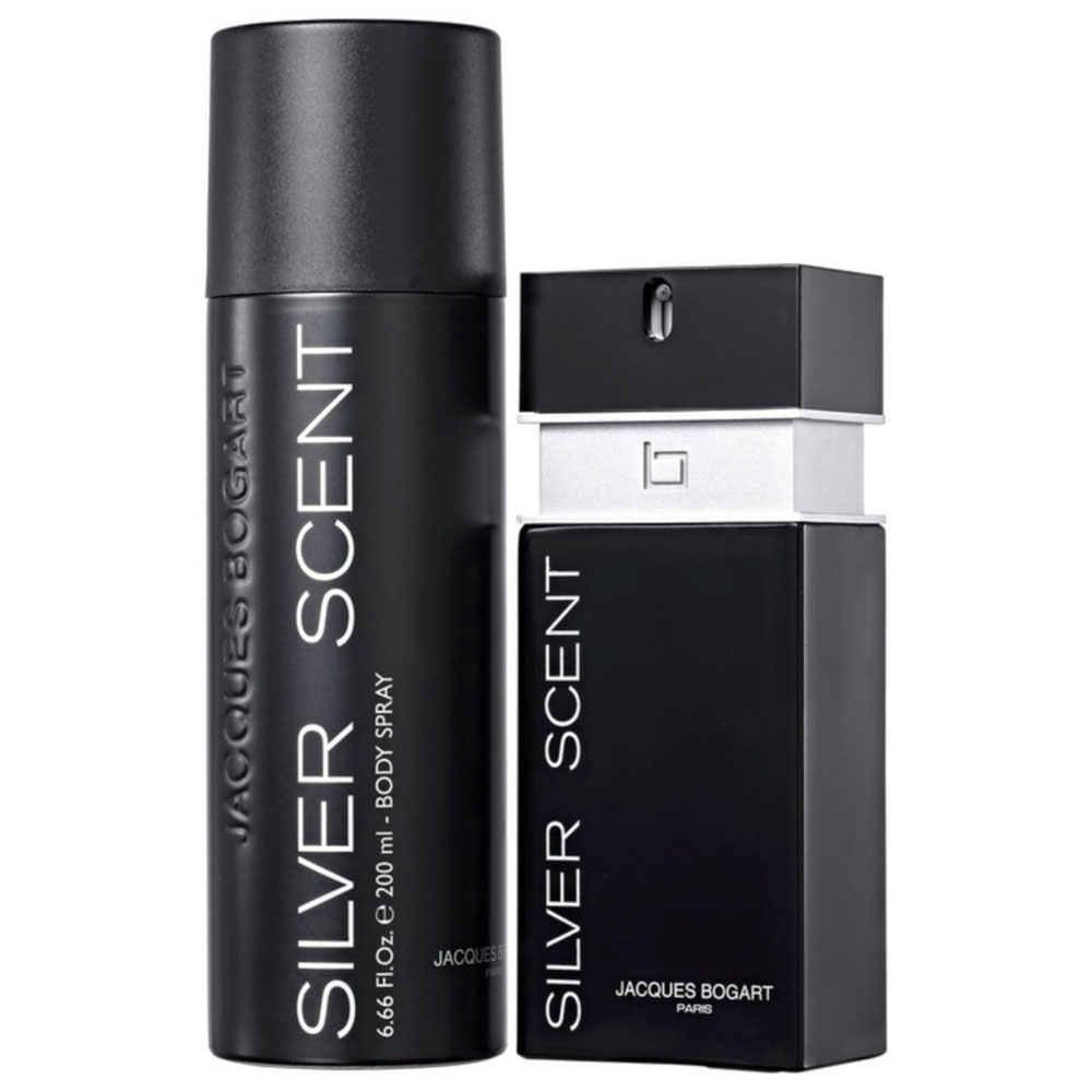 Coffret Silver Scent Jacques Bogart Eau de Toilette Masculino 100 ml + Desodorante 200 ml