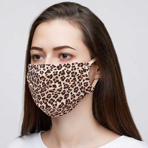 Kit 2 Máscaras de Proteção Hope Animal Print 100% Algodão Lavável e Reutilizável