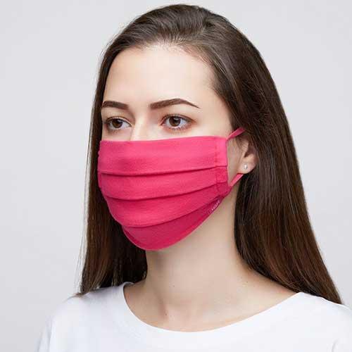 Kit 2 Máscaras de Proteção Hope Pretas 100% Algodão Lavável e Reutilizável