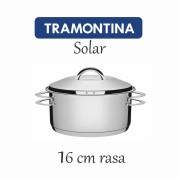 Caçarola Aço Inox Tramontina Solar rasa 16 cm 1,40 L