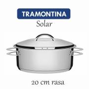 Caçarola Aço Inox Tramontina Solar rasa 20 cm 2,90L