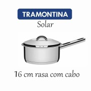 Panela Aço Inox Tramontina Solar rasa com cabo 16 cm 1,40 L