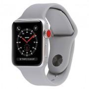 Apple Watch Series 3 Silver Aluminum Case com Fog Sport Band 38mm