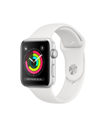 Apple Watch Series 3 Silver Aluminum Case com White Sport Band 42mm