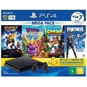 PlayStation 4 Slim HDR 1TB Mega Pack v8