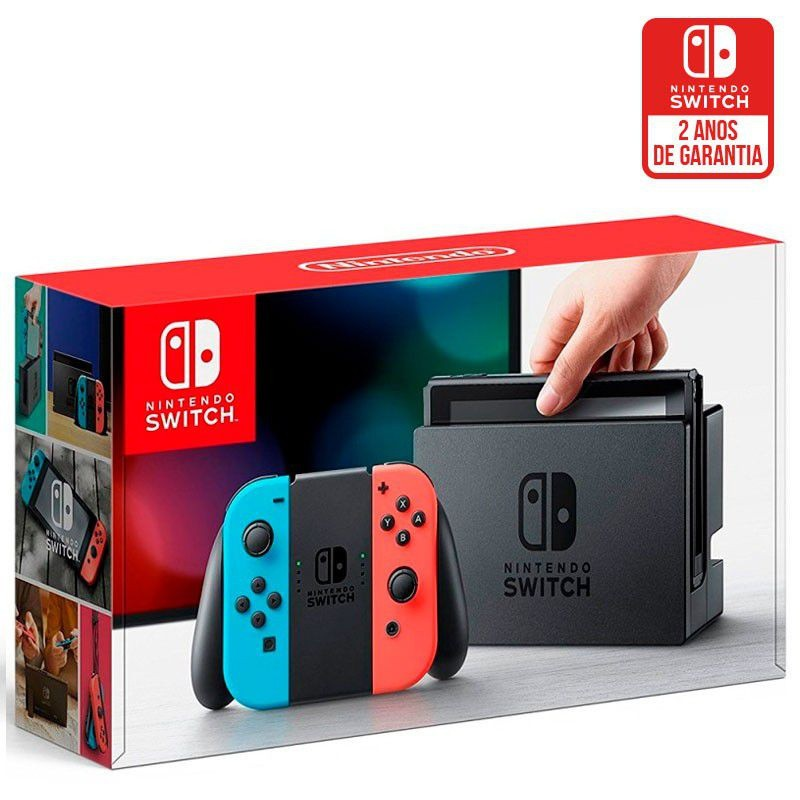 Nintendo Switch 32GB com Joy-Con Neon Azul/Neon Vermelho