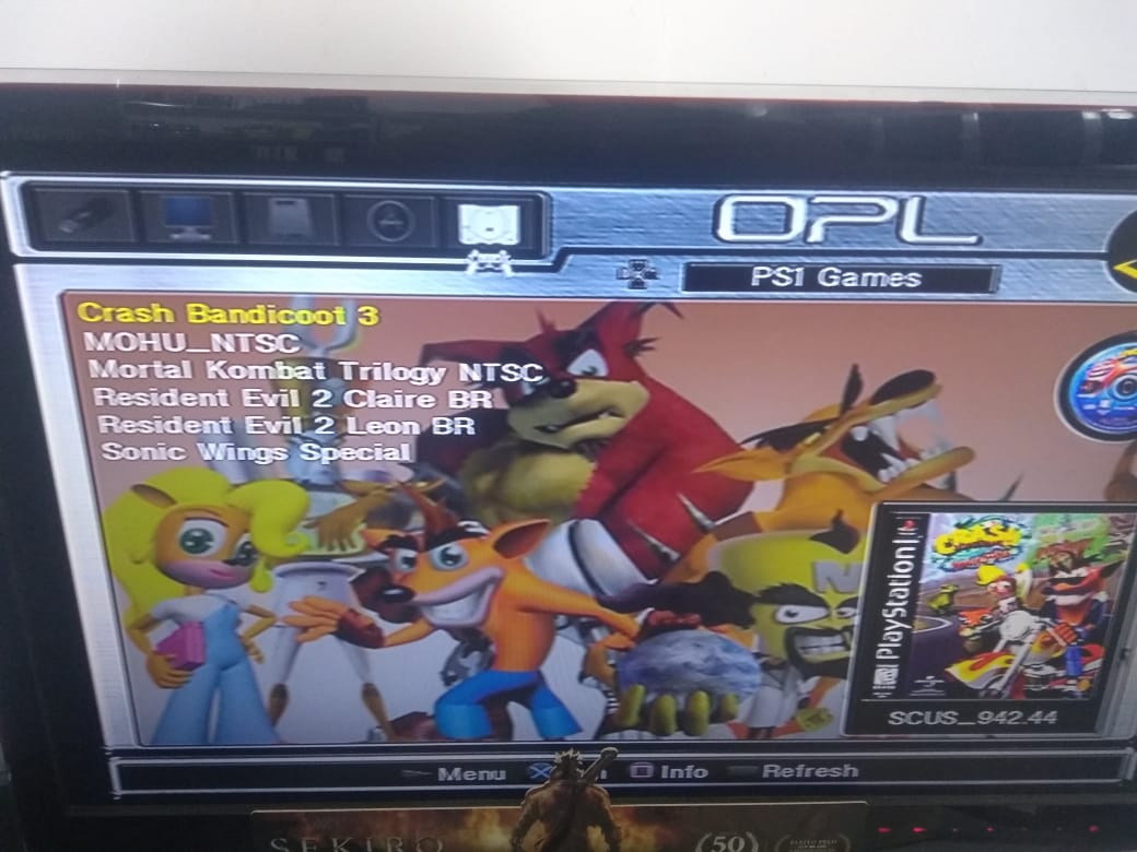 PlayStation 2 OPL(Sem Leitor) 64gb com 3000 Jogos + 2 Controles + Memory Card